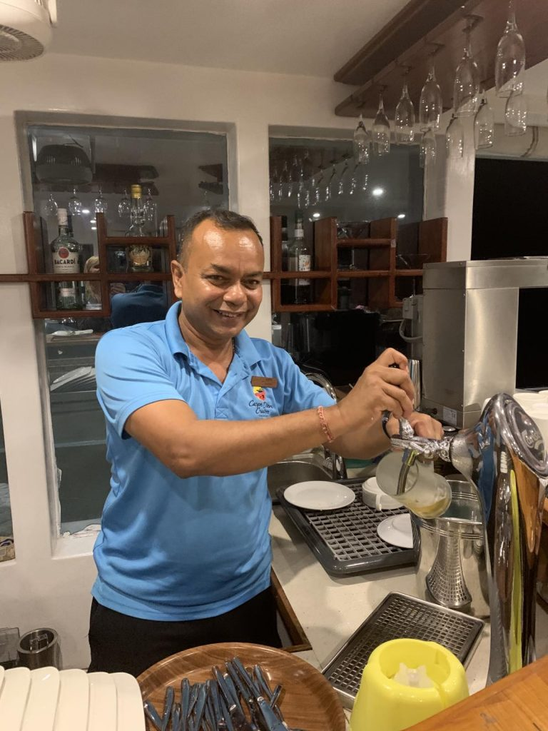 Barman Ajith on the Carpe Novo Maldives