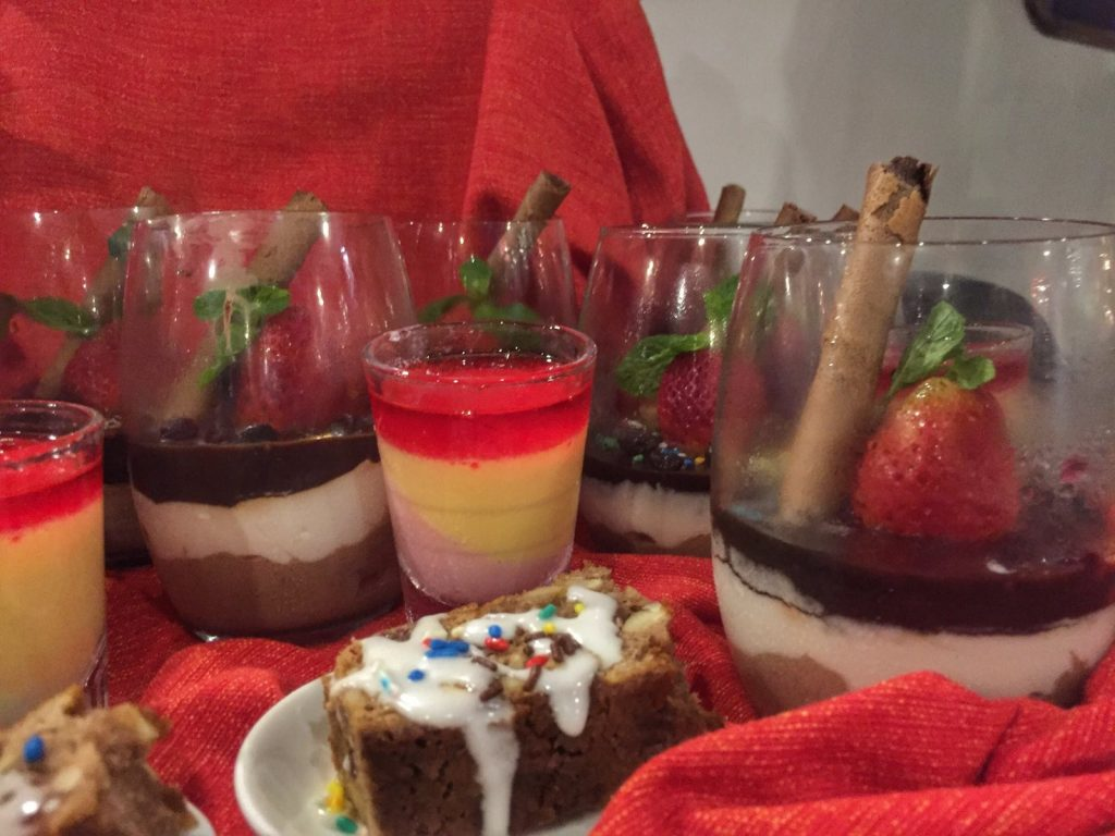 Great desserts served on Carpe Diem boat