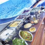 Buffet style lunch on Carpe Diem