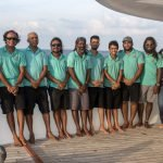 Part of Carpe Vita crew team and Agnes in the Maldives
