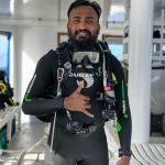 Dive team leader Hussein of the Carpe Novo Maldives